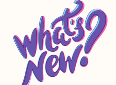 What's New in purple ink on a white background